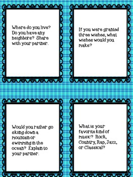 All About Us! Task Cards