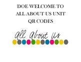 All About Us Unit QR Codes