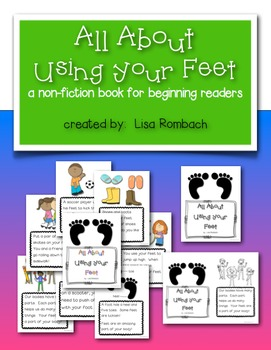 All About Using Your Feet a non fiction book for beginning readers