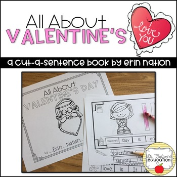 """""""All About Valentine's Day"""" A Cut-a-Sentence Book"""