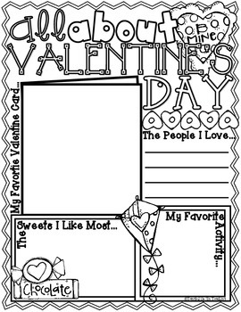 All About Valentine's Day Poster: A February Holiday Activity