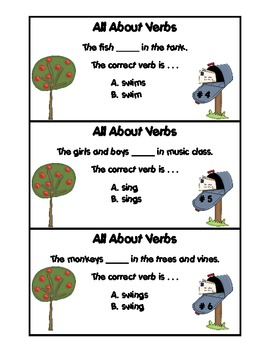 All About Verbs 2 Task Cards