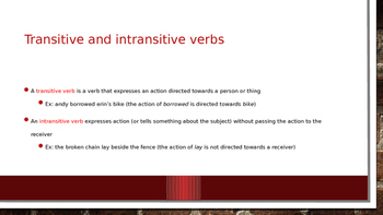 All About Verbs powerpoint