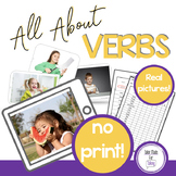 All About Verbs - 76 real life verb pictures - NO PRINT -