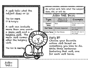 All About Verbs- A Tabbed Reference Flipbook