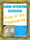All About Verbs: Print N' Go Flashcards