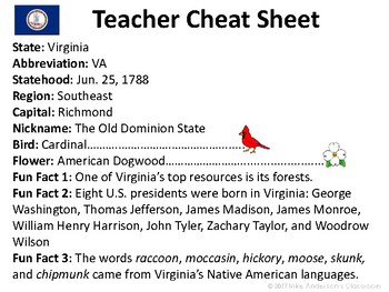 All About Virginia | US States | Activities & Worksheets