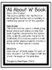 All About W | Alphabet Recognition Book