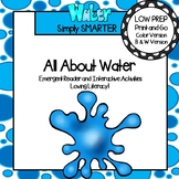 All About Water Emergent Reader Book AND Interactive Activities
