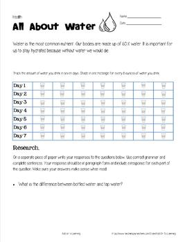 All About Water | Health Activity for Middle Schoolers