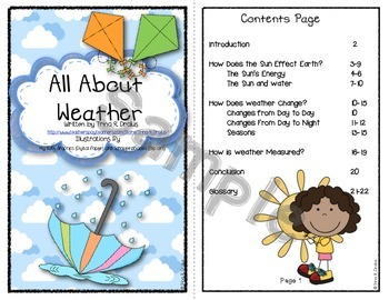 All About Weather Informational Text Interactive Reader