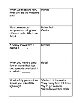All About Weather Review Game