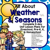 All About Weather & Seasons Lesson Plans for Preschool, PreK, K, & Homeschool