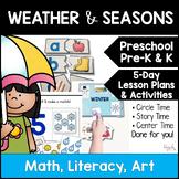 All About Weather & Seasons Lesson Plans for Preschool, PreK, K, & Homeschool