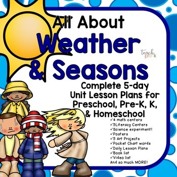 All About Weather & Seasons Lesson Plans for Preschool, Pr