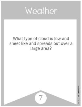 Utah 4th Grade Science Weather Task Cards