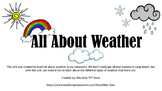 All About Weather Unit