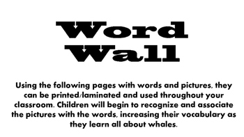 All About Whales Unit