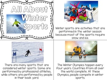 Winter Activities for Nonfiction Reading