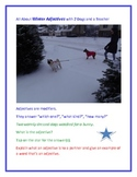 All About Winter Adjectives with 2 Dogs and a Teacher