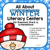 All About Winter Literacy Centers for Preschool, PreK, K, & Homeschool