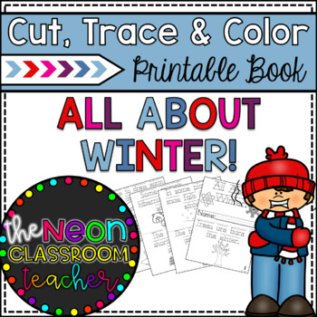 """All About Winter"" Printable Cut, Trace & Color Book!"
