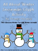 Snowman Glyph Activity: All About Winter FREE