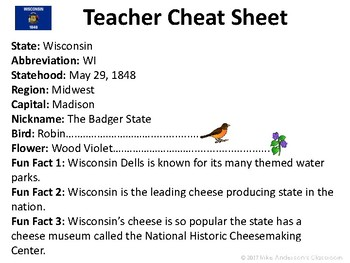 All About Wisconsin | US States | Activities & Worksheets