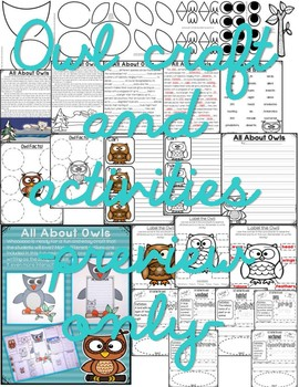 All About Woodland Animals-BUNDLED!!! (crafts, writing activities, & much more)