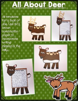 All About Woodland Animals-CRAFTS (templates for 11 woodland animals)