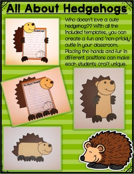 All About Woodland Animals-HEDGEHOGS! (crafts, writing activities, & much more)