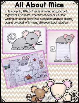 All About Woodland Animals-MICE!!! (crafts, writing activities, & much more)