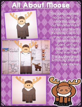All About Woodland Animals-MOOSE! (crafts, writing activities, & much more)