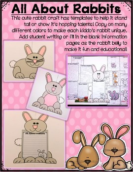 All About Woodland Animals-RABBITS! (crafts, writing activities, & much more)