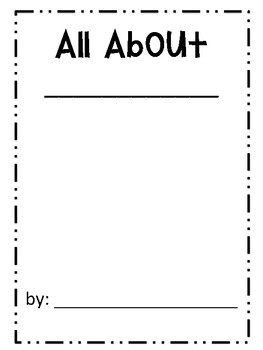 All About Writing Booklet