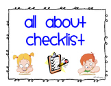 All About Writing Checklist