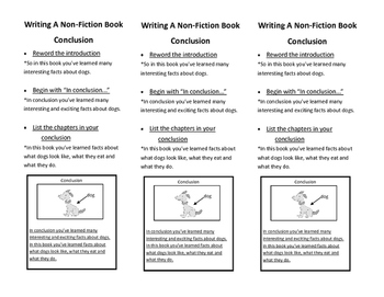 All About Writing Conclusions Visual Aid Bookmark