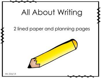 All About Writing Paper- 2 Lines