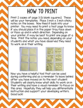 All About Writing Printable Sticky Notes