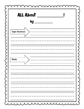 All About Writing Template