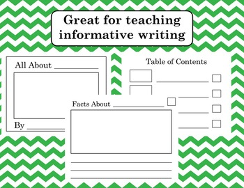 All About Writing Template Informative Writing
