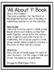 All About Y   Alphabet Recognition Book