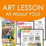 All About You Art Lesson Handout, Art Sub Lesson, One Day Lesson