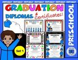 Preschool Diplomas Set 1 - Editable