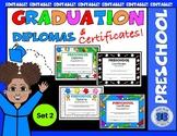 Preschool Diplomas Set 2 - Editable