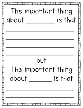 All About Me (writing activities for back to school)