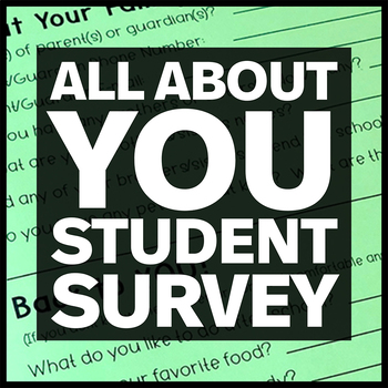 All About You! (questionnaire for first day of school)