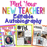All About Your New Teacher! [Editable Autobiography]