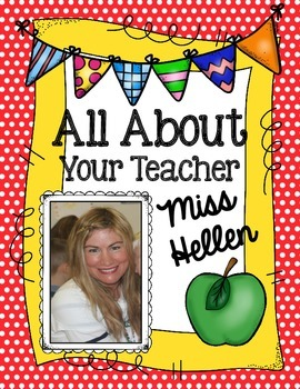 All About Your Teacher {or Student!}