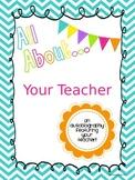 All About Your Teacher Editable Book
